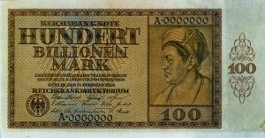 hyperinflation 1923 - 100 bilionen mark