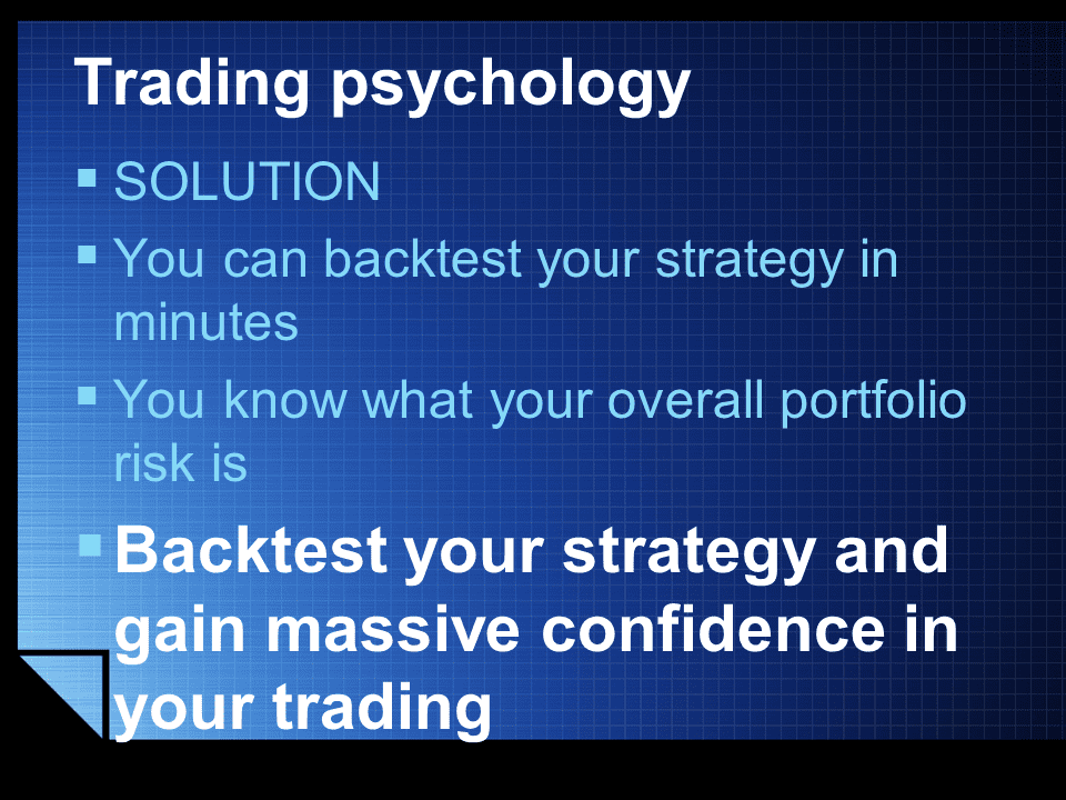 trading psychology solution