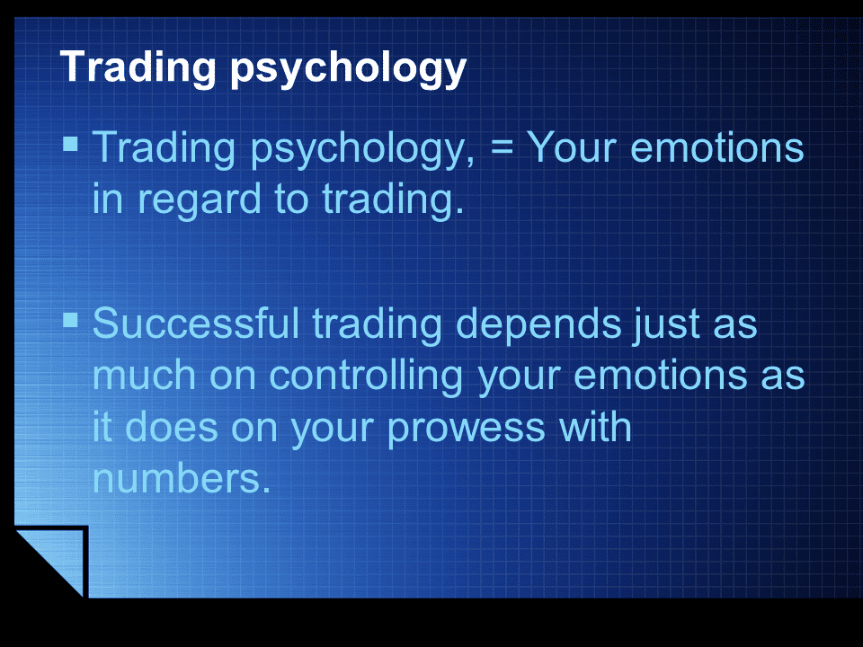 Trading Psychology definition
