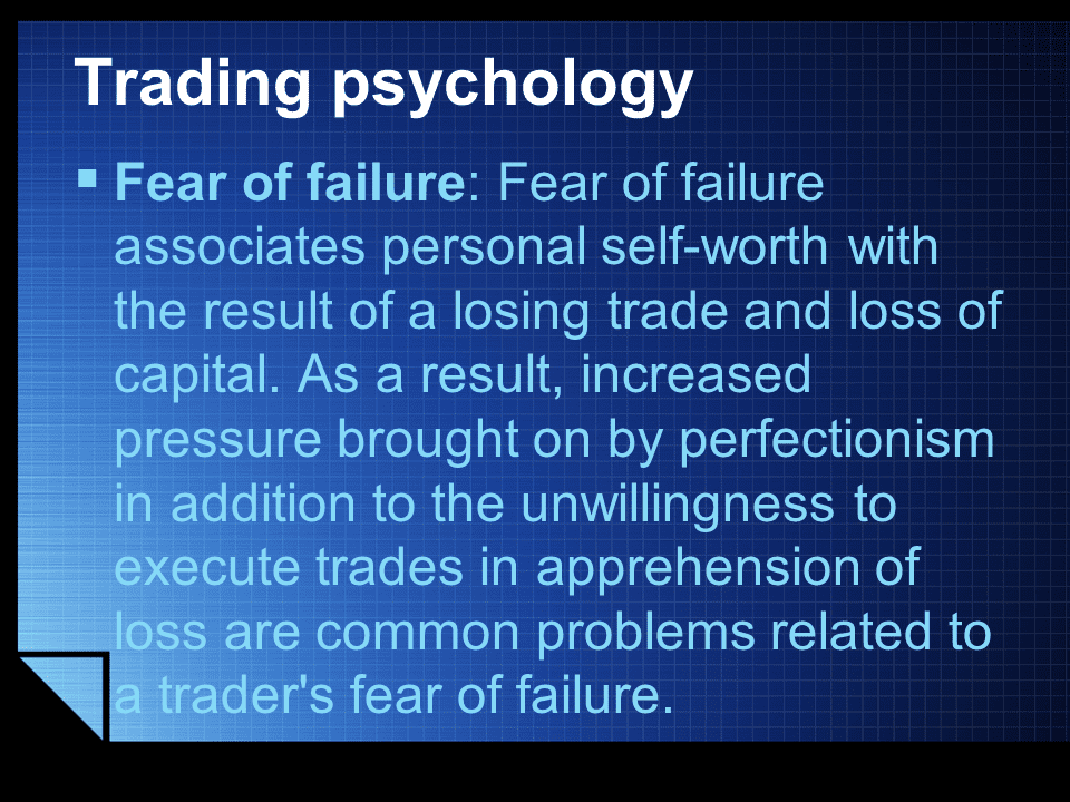 Trading Psychology failure
