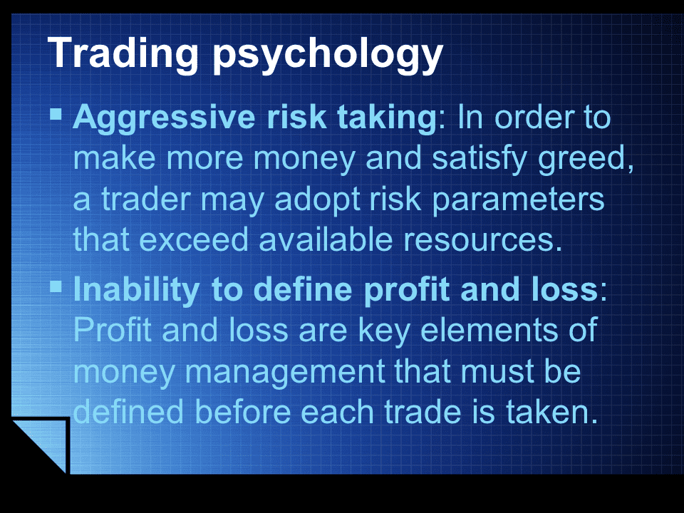Trading Psychology risk taking