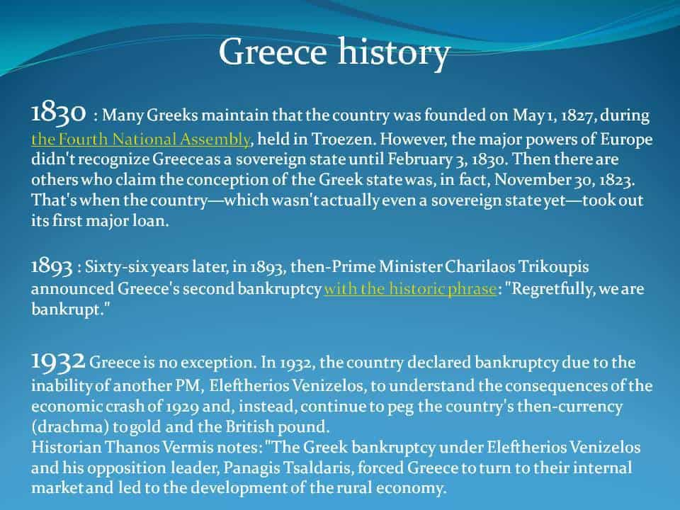 Greece debt history 1