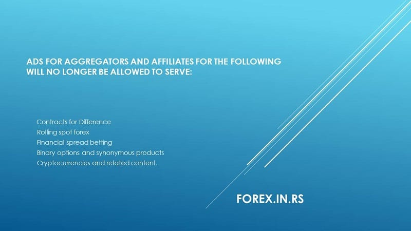google bans forex affiliates