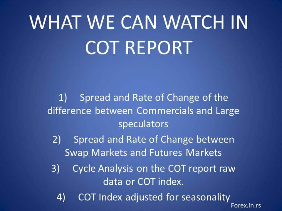 what we can check in COT report