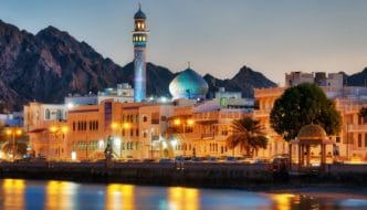 oman evening city view