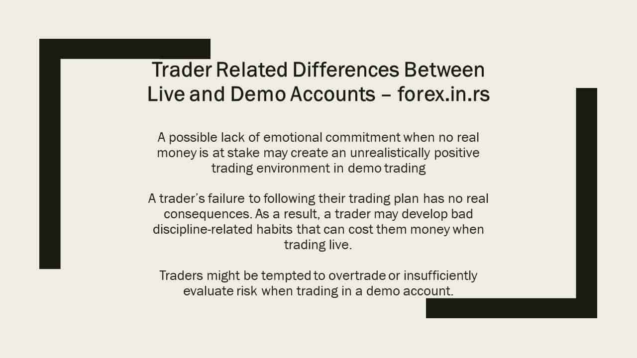 trader - demo vs real forex account