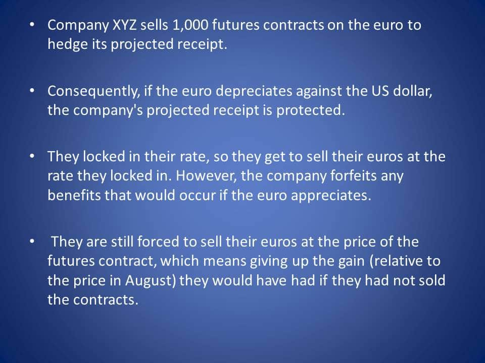 how to use currency futures for hedging example