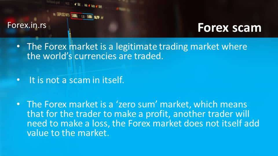 Forex is not scam itself