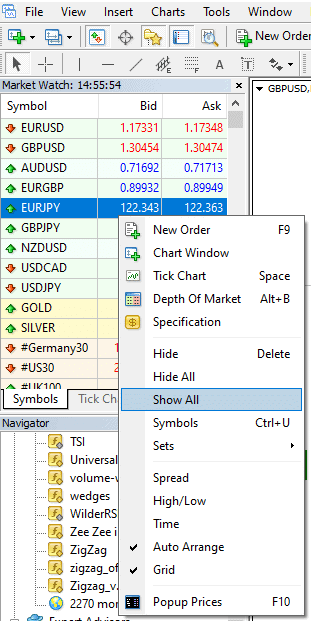 get more currency pairs - add more symbols in MT4