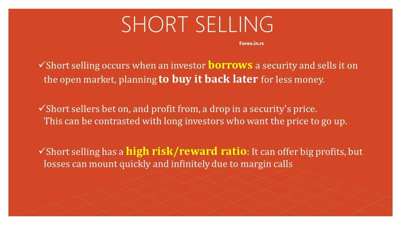 short selling - how does short selling work